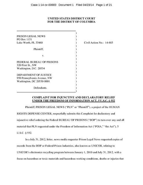 Civil Complaint Example | Found File