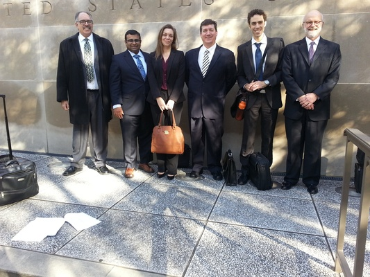 PLN legal team going to court in Florida, Jan. 2015