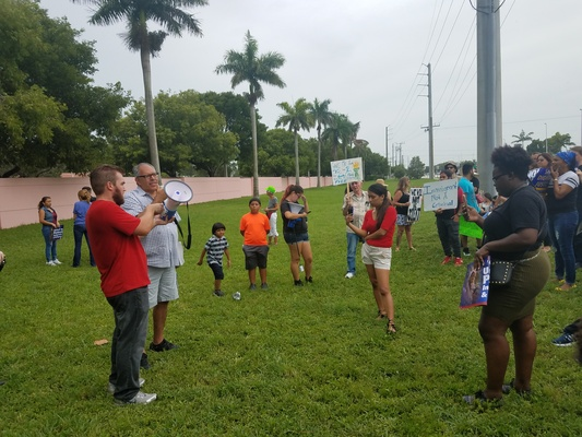 Paul Wright speaking at Solidarity With Undocumented Detainees (Broward Transitional Center, FL), July 22, 2017